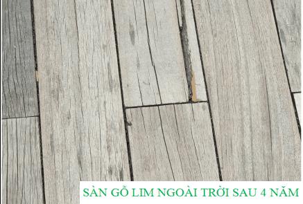Sàn gỗ lim ngoài trời SunWorld Fansipan sau 4 năm sử dụng