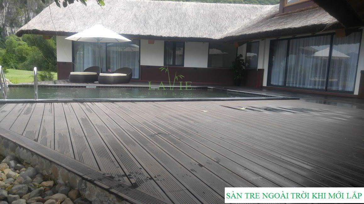 Sàn tre ngoài trời Serena Resort do Lavie Bamboo mới lắp đặt