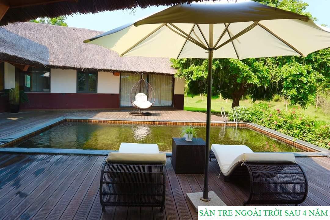 Sàn tre ngoài trời Serena Resort do Lavie Bamboo lắp đặt sau 4 năm