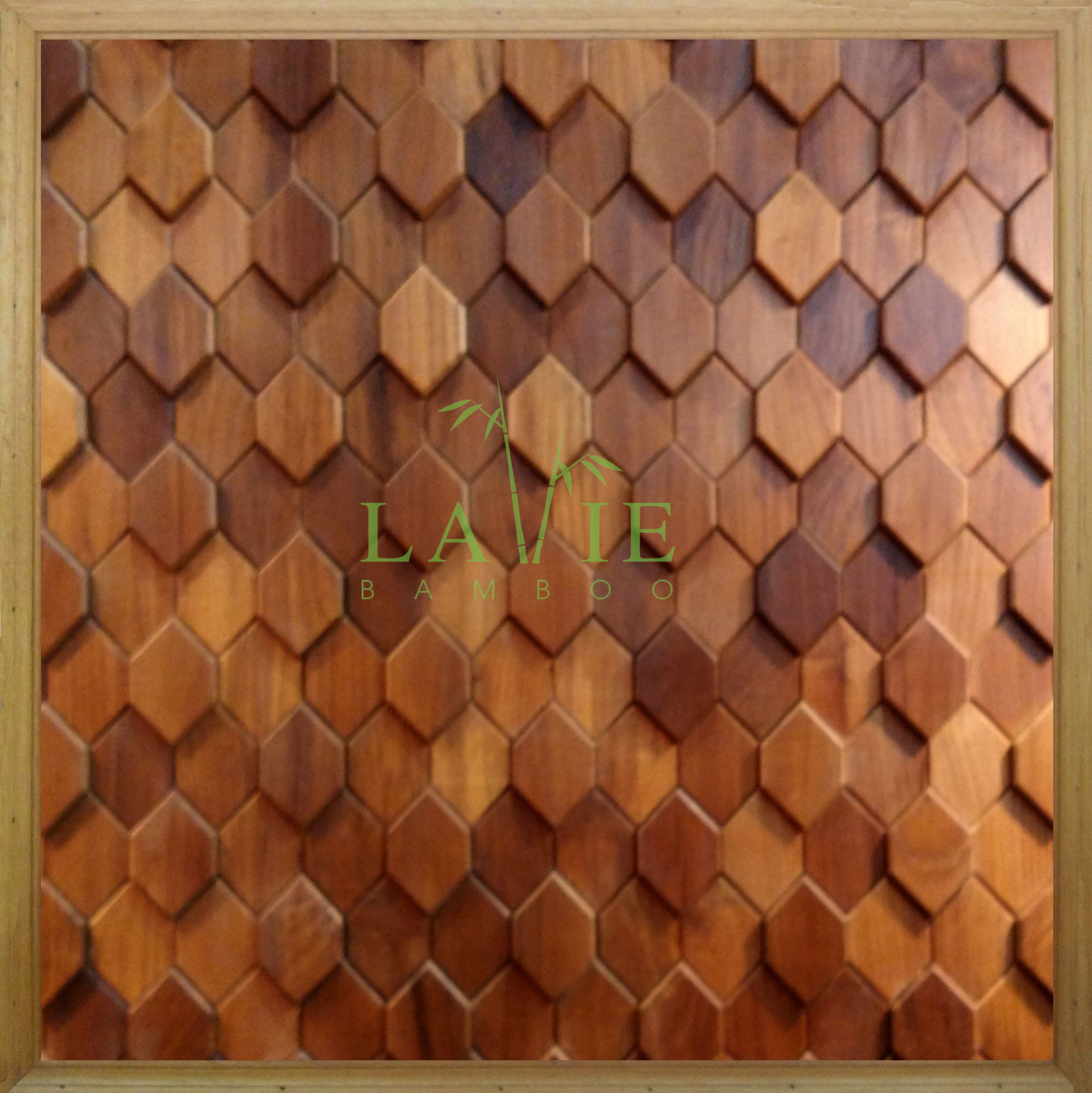 Tấm ốp tường gỗ mosaic của Lavie 01