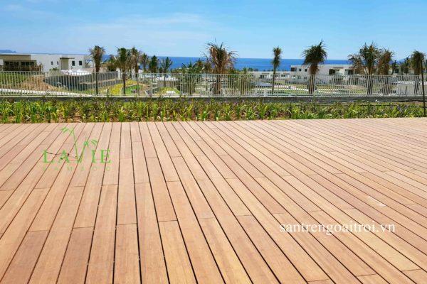 sàn gỗ tre tự nhiên alma resort