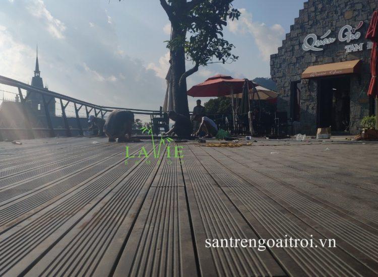 Lavie Bamboo thi công sàn tre ngoài trời Quán Gió Tam Đảo 10
