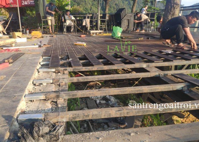 Lavie Bamboo thi công sàn tre ngoài trời Quán Gió Tam Đảo 11