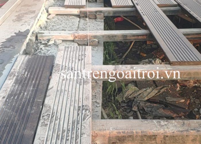 Lavie Bamboo thi công sàn tre ngoài trời Quán Gió Tam Đảo 5