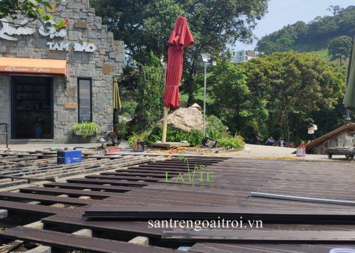Lavie Bamboo thi công sàn tre ngoài trời Quán Gió Tam Đảo 8